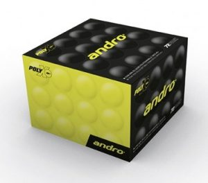 Пластиковые мячи Andro PolyX 1* 40+