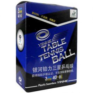 Пластиковые мячи Yinhe 40+ 3*** ITTF: пачка 6 штук - 10 пачек