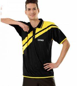 Тенниска Gewo Drive ,черно-желтая
