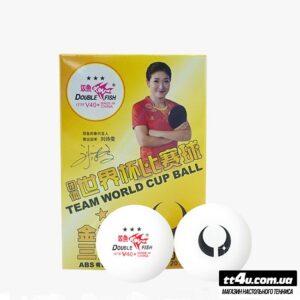 Мячи Double Fish V40+ABS 3*** ITTF Team World Cup ,6 шт.